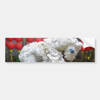 Year of the Horse | 春節馬 ... Chinese Flower Topiary Bumper Stickers