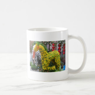 Year of the Horse 春節馬 Chinese Flower Topiary Mugs