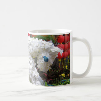 Year of the Horse 春節馬 Chinese Flower Topiary Coffee Mugs