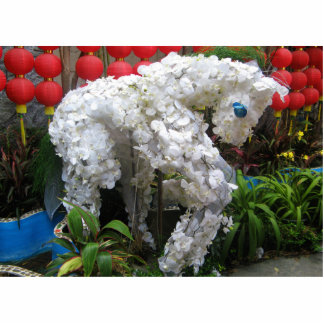 Year of the Horse | 春節馬 ... Chinese Flower Topiary Statuette