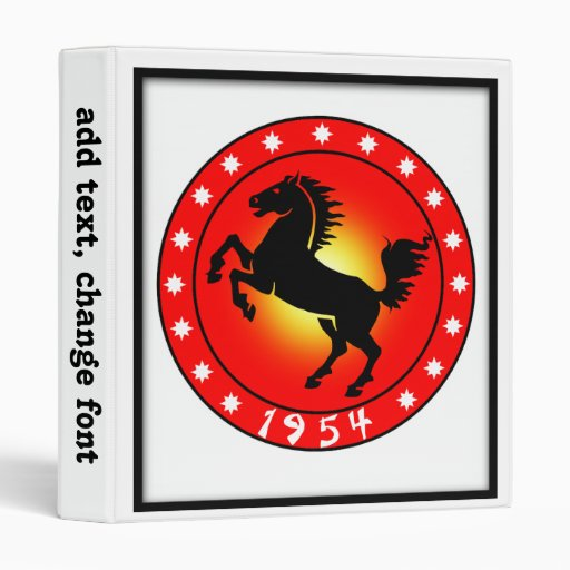 Year of the Horse 1954 3 Ring Binders