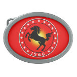 Year of the Horse 1966 Oval Belt Buckle