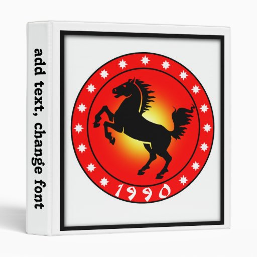 Year of the Horse 1990 Binders