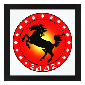 Year of the Horse 2002 Card
