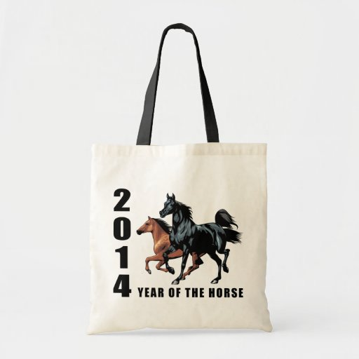 Year of The Horse 2014 Budget Tote Bag