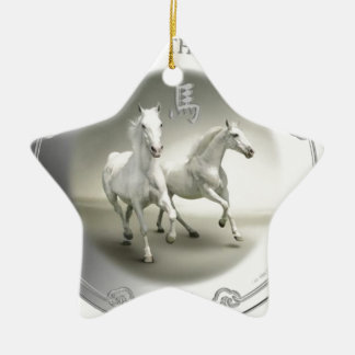 YEAR OF THE HORSE 2014 CERAMIC ORNAMENT