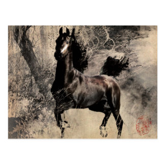 Year of the Horse 2014 - Chinese Painting Art Postcard