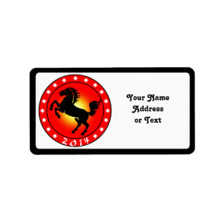 Year of the Horse 2014 Custom Address Label