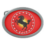 Year of the Horse 2014 Oval Belt Buckle