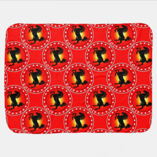 Year of the Horse 2014 Swaddle Blanket