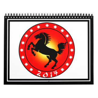 Year of the Horse 2014 Calendar
