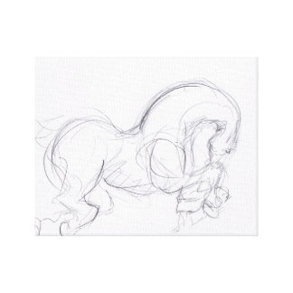 Year of the Horse 3- Original Drawing - Canvas