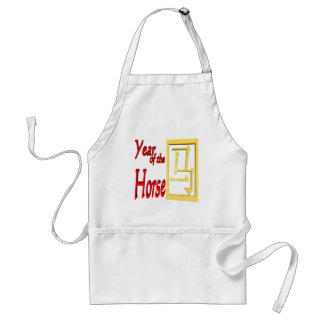Year Of The Horse Adult Apron