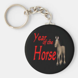 Year Of The Horse Basic Round Button Keychain