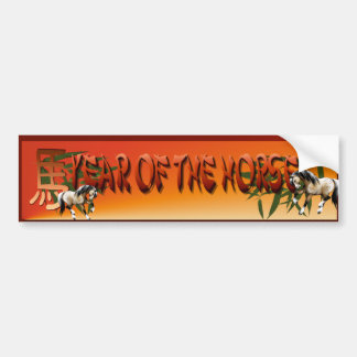 Year Of The Horse Bumper Sticker