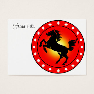 Year of the Horse Business Card
