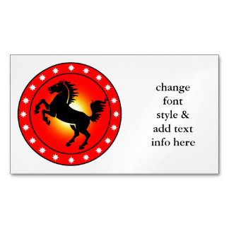Year of the Horse Business Card Magnet