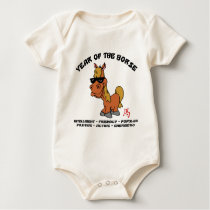 Year of The Horse Characteristics Baby Bodysuit