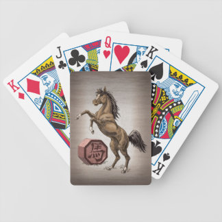 Year of the Horse Chinese Zodiac Animal Art Bicycle Playing Cards