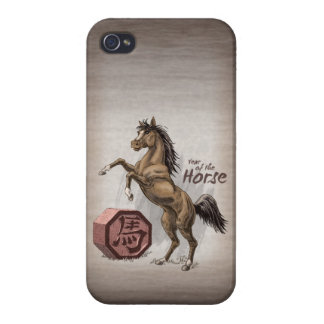Year of the Horse Chinese Zodiac Animal Art iPhone 4 Cases