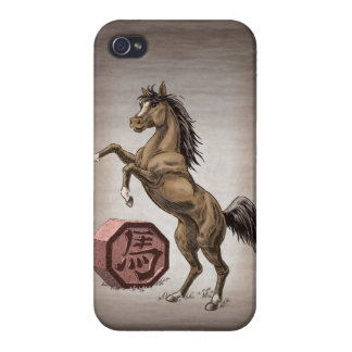 Year of the Horse Chinese Zodiac Animal Art Cases For iPhone 4