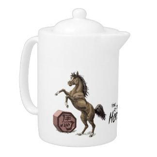 Year of the Horse Chinese Zodiac Animal Art Teapot