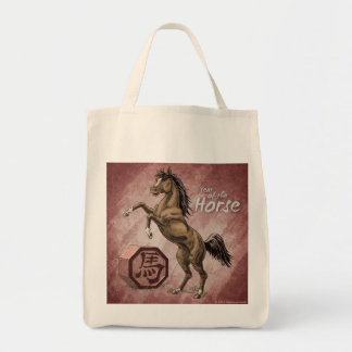 Year of the Horse Chinese Zodiac Animal Art Tote Bag