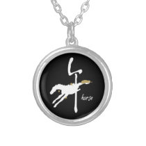 Year of the Horse - Chinese Zodiac Silver Plated Necklace