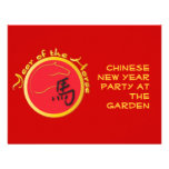 Year of the Horse Flame Red Invites