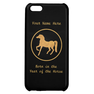 Year of the Horse, Gold-effect on Black Case For iPhone 5C