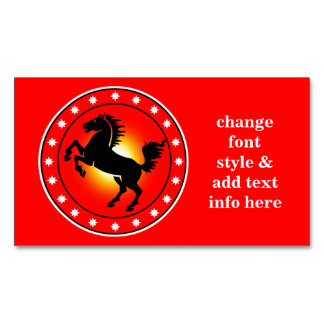 Year of the Horse Magnetic Business Card