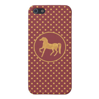 Year of the Horse Maroon Polkas iPhone 5c Case