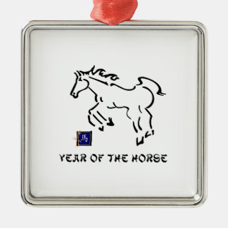Year of The Horse Metal Ornament
