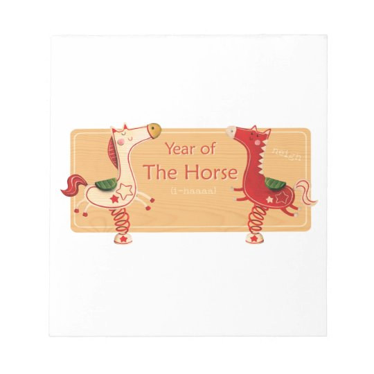 Year of The Horse Notepad