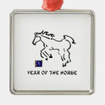 Year of The Horse Ornaments