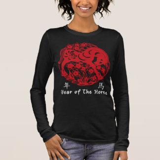 Year of The Horse Papercut Long Sleeve T-Shirt