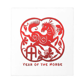 Year of The Horse Papercut Memo Note Pad