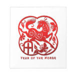Year of The Horse Papercut Memo Notepad