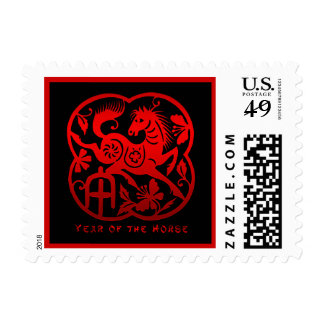 Year of The Horse Papercut Postage