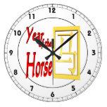 Year Of The Horse Wallclocks