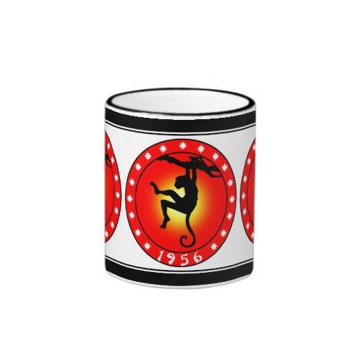 Year of the Monkey 1956 Ringer Coffee Mug