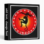 Year of the Monkey 1980 3 Ring Binders