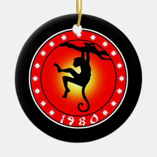 Year of the Monkey 1980 Ornaments