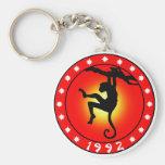 Year of the Monkey 1992 Basic Round Button Keychain