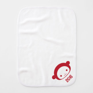 Year of the Monkey 2016 Baby Baby Burp Cloth