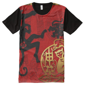 Year of the Monkey 2016 Chinese New Year All-Over-Print Shirt