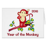 Year of the Monkey 2016 Chinese New Year Card