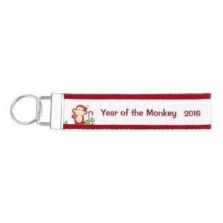 Year of the Monkey 2016 Red Wrist Keychain