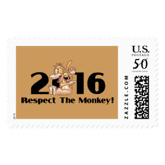 Year of The Monkey 2016 - Respect The Monkey Postage