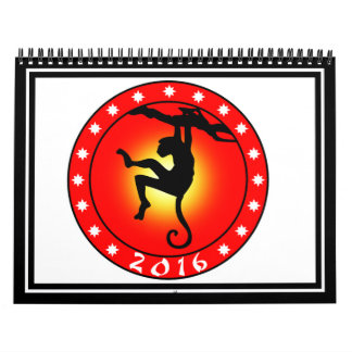 Year of the Monkey 2016 Calendar